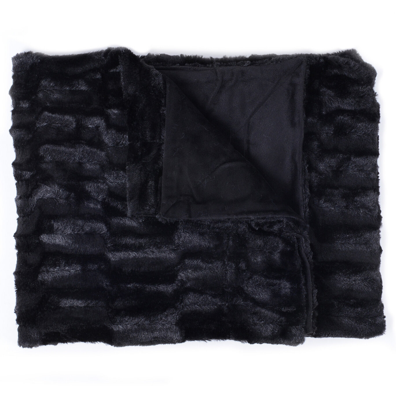 Sweet Home Collection Box Decorative Reversible Faux Fur And Mink Throw Reviews Wayfair