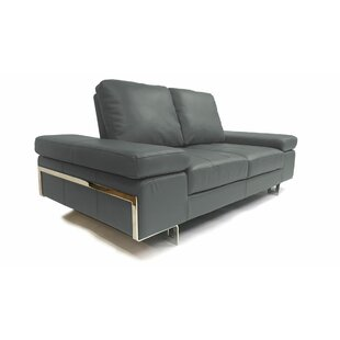 At Home USA Gia Leather Loveseat