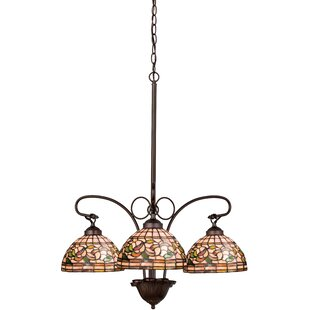 Meyda Tiffany Tiffany Turning Leaf 3-Light Shaded Chandelier