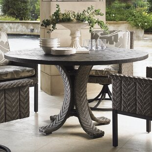 Blue Olive Wicker Rattan Dining Table