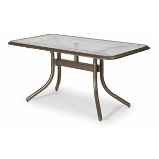 Glass Top Rectangular Dining Table by Telescope Casual