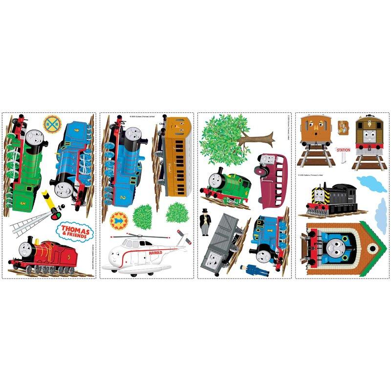 Train Engine Cute Removable Matte Sticker Sheets Set