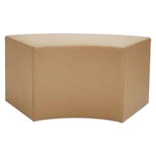 Latitude Run Thill Contemporary Leather Corner Bench