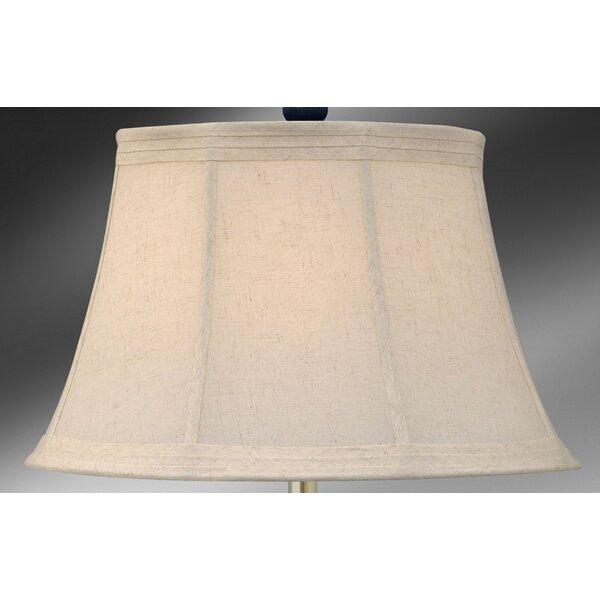 Medallion Lighting 11 75 H X 19 W Linen Bell Lamp Shade Spider In Ecru