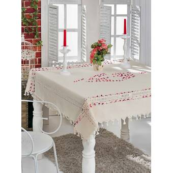 Saro Ruffled Design Tablecloth Wayfair