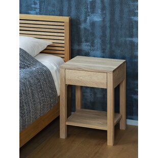 Holbrook 1 Drawer Bedside Table By Gracie Oaks
