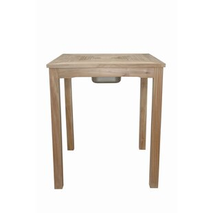 Mccarty Ice Chiller Teak Bar Table by Rosecliff Heights Modern