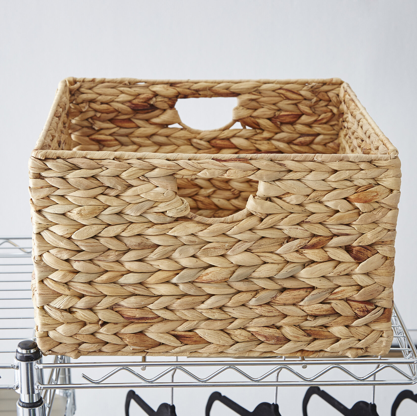 Wayfair Basics Woven Hyacinth Storage Basket Set (Set of 2)  sc 1 st  Wayfair & Storage Boxes Storage Bins u0026 Storage Baskets Youu0027ll Love