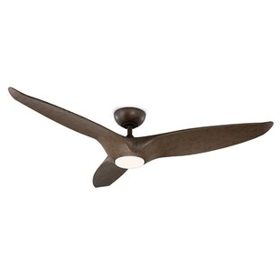 Affordable Price 60 Morpheus 3 Blade Outdoor LED Ceiling Fan with Remote By Modern Forms