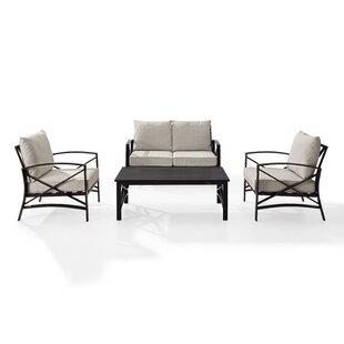 Freitag 4 Piece Sofa Set With Cushions
