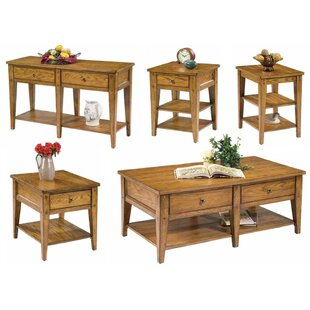 Loon Peak Kalene 5 Piece Coffee Table Set