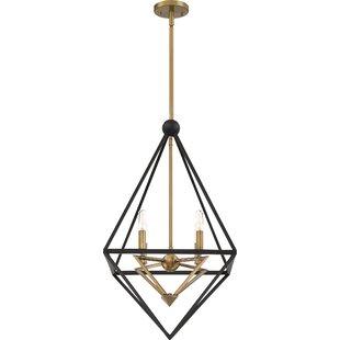 Rosann4-Light Geometric Chandelier by Wrought Studio