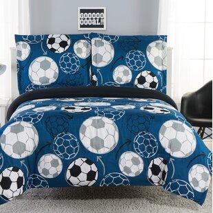 Creger Soccer Practice Reversible Comforter Set