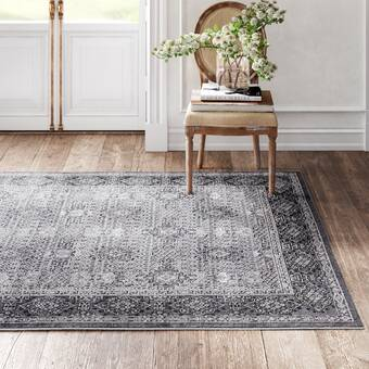 Kelly Clarkson Home Bonney Oriental Light Gray Area Rug Reviews Wayfair