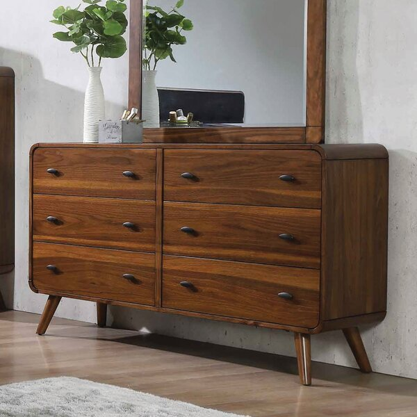 Wade Logan Mcneal 6 Drawer Double Dresser Wayfair