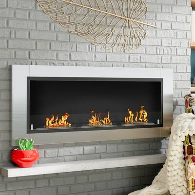 Kelling Ventless Recessed Wall Mounted Bio Ethanol Fireplace