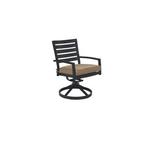 Card Swivel Patio Dining Chair with Cushion (Set of 2) by Darby Home Co