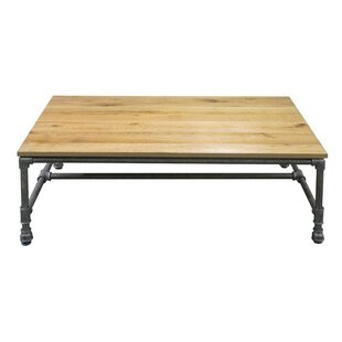 Lockheart Sturdy Classic Metal/Wood Coffee Table