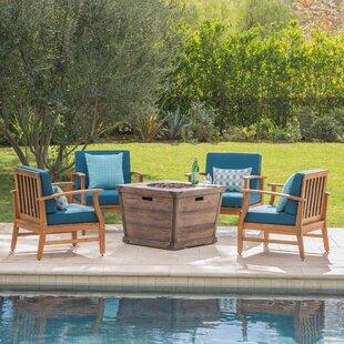 Benton 5 Piece Conversation Set With Cushions by Brayden Studio Best Choices
