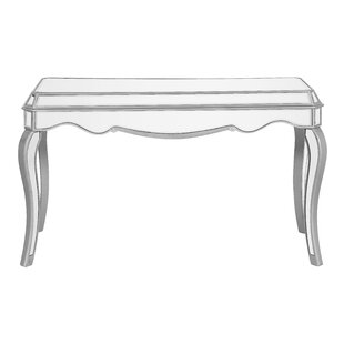 Great choice Orpha Glass Top Writing Desk By Rosdorf Park
