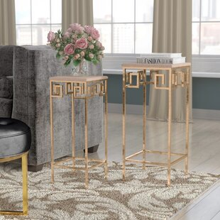 Compare Guillelmina 2 Piece Marble Accent Tables by Willa Arlo Interiors