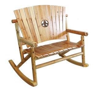 Alaniz Fleur de Lis Medallion Double Rocking Chair by Millwood Pines