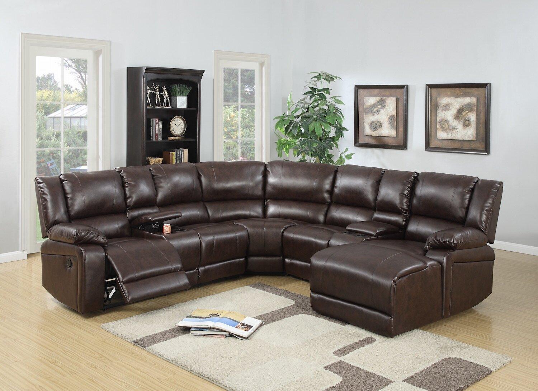 Red barrel studio kowalski reclining sectional reviews wayfair