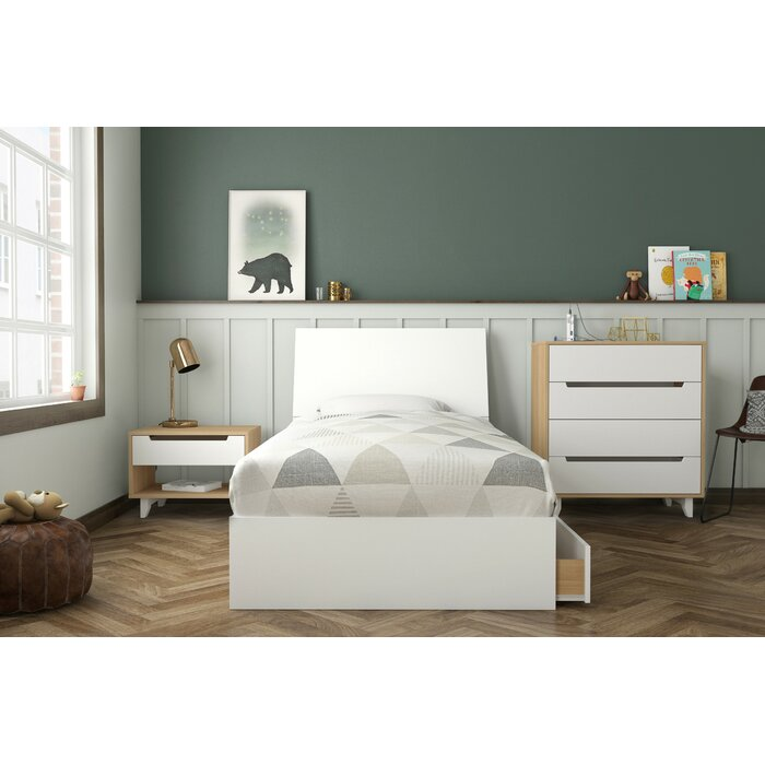Alaysia Twin Platform 4 Piece Bedroom Set