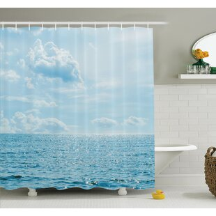 Read Reviews Nautical Calm Sea Paradise Shower Curtain Set By Ambesonne