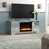 Zariyah Solid Wood TV Stand for TVs up to 70 with Electric Fireplace Included by House of Hampton®