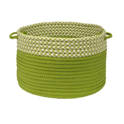 Brayden Studio Ariadne Dipped Basket Size: 10 H x 14 W x 14 D, Color: Lime