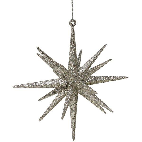8/'/' SILVER STARBURST ORNAMENT HANGING ALUMINUM STAR DECORATION STARBURSTS