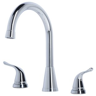 Laguna Brass Contemporary Widespread Bathroom Faucet with Drain Assembly