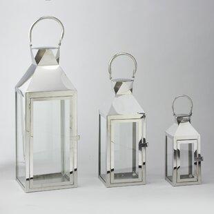 3 Piece Metal Lantern Set by House of Hampton