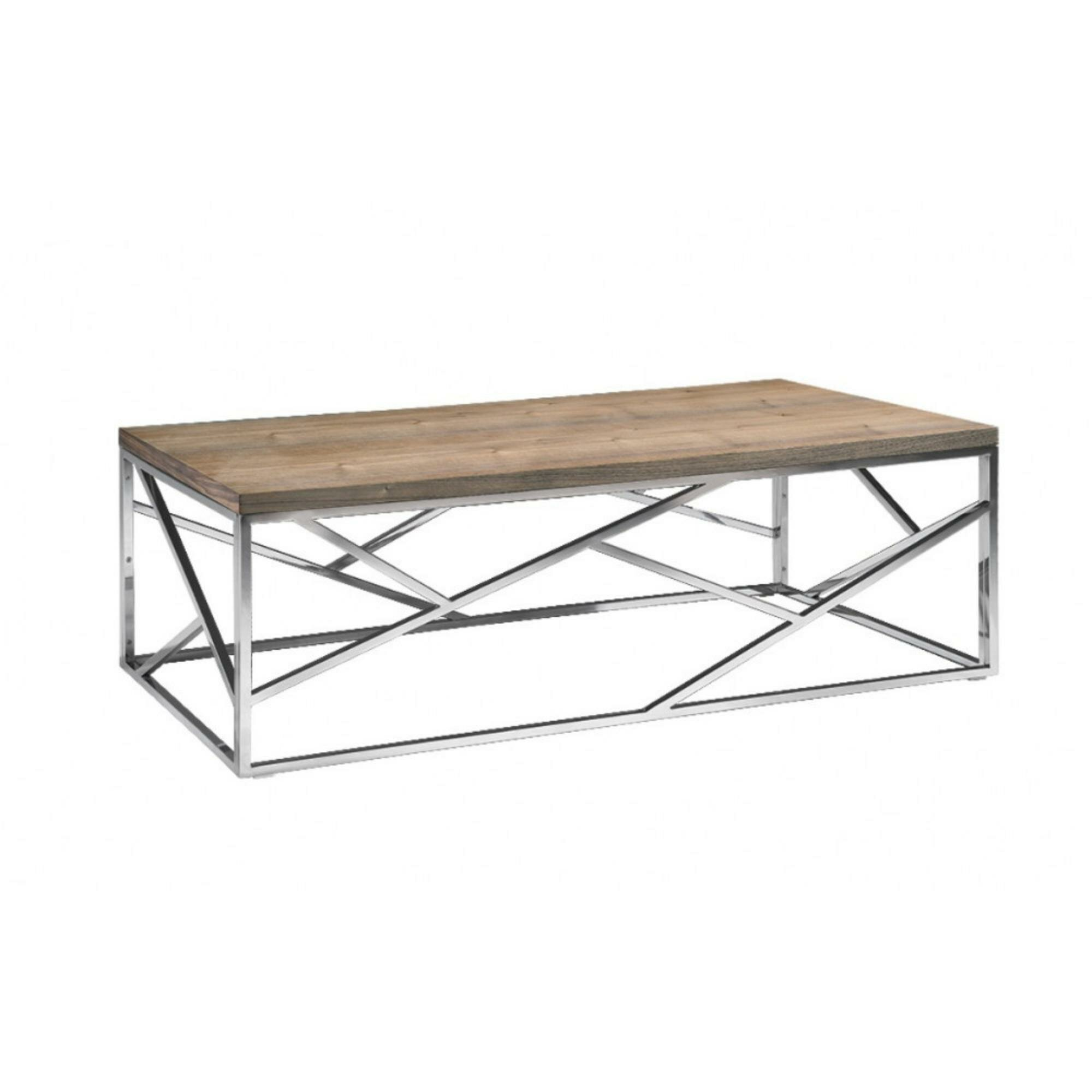 Wondrous Frisbee Wood And Metal Coffee Table Machost Co Dining Chair Design Ideas Machostcouk