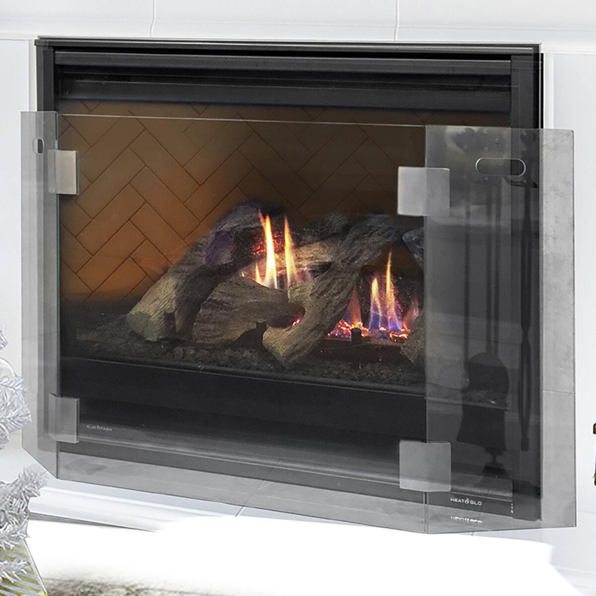 Barton Freestanding Guard 3 Panel Glass Fireplace Screen Reviews Wayfair