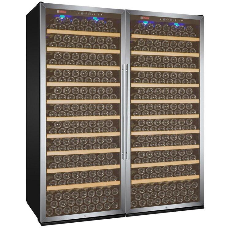 Allavino 610 Bottle Vite Series Dual Zone Freestanding Wine Cellar  Finish: Stainless Steel