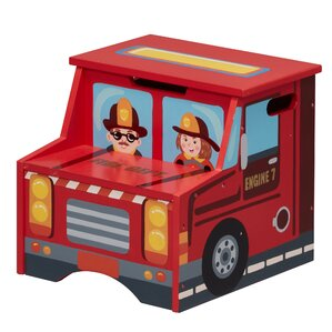 Little Fire Fighters Step Stool with Storage by Fantasy Fields