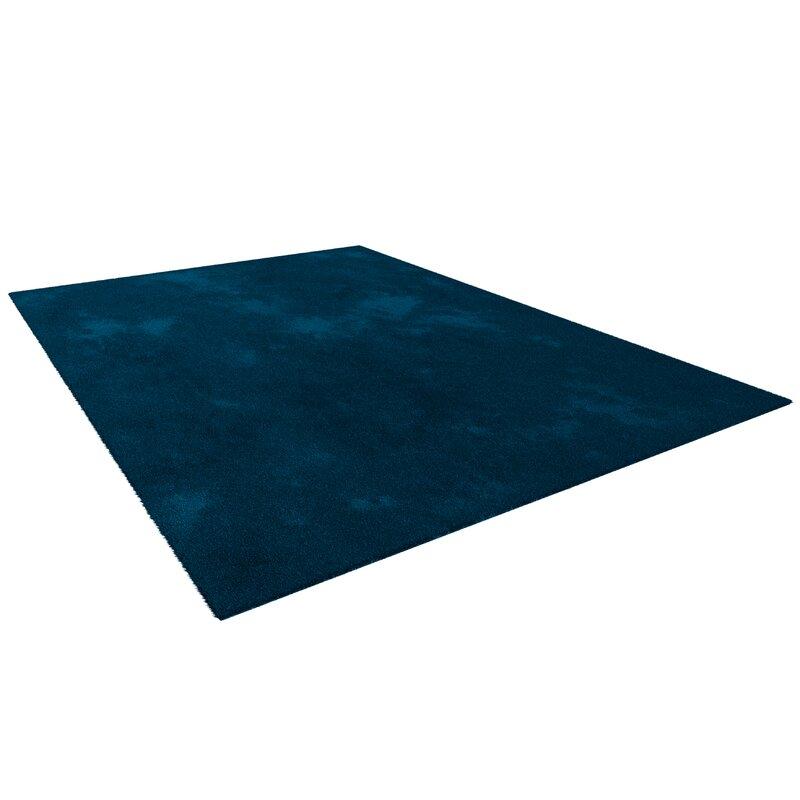 Washable Karim Silky Navy Blue Rug