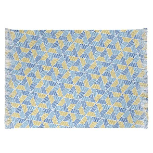 East Urban Home Mcguigan Trapezoids Blue Yellow Area Rug Wayfair