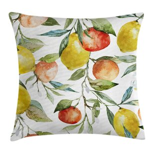 Colorful Orange Clementine Tree Pillow Cover