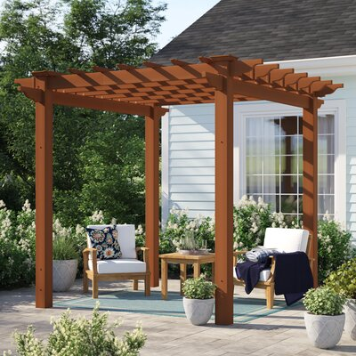 Ansonia 6.5 Ft. W X 6.5 Ft. D Vinyl Pergola by Sol 72 Outdoor 2020 Sale