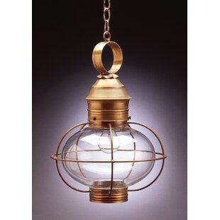 Northeast Lantern Onion 1-Light Outdoor Hanging Lantern