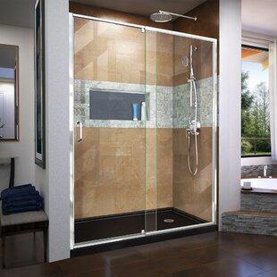 Read Reviews Flex 56-60 in. W x 72 in. H Semi-Frameless Pivot Shower Door ByDreamLine