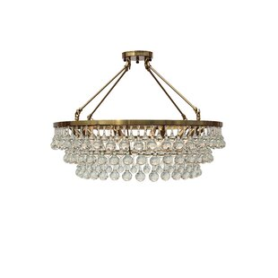 Willa Arlo Interiors Fabrice 10-Light LED Flush Mount
