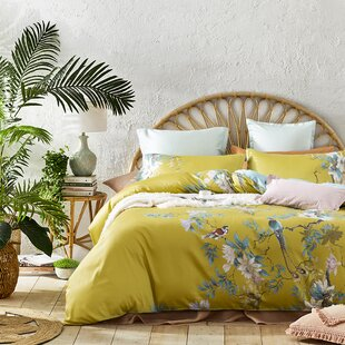 Juhl Botanical Bird and Tree Branches Reversible Duvet Cover Set