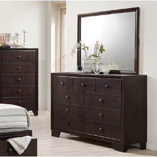 Bassett 9 Drawer Dresser With Mirror
