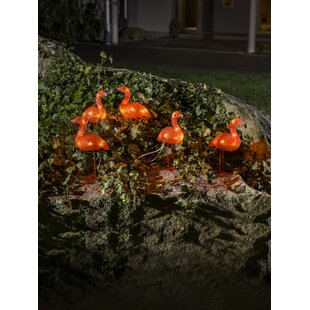 Baby Standing Flamingos Lighted Display (Set Of 5) Image