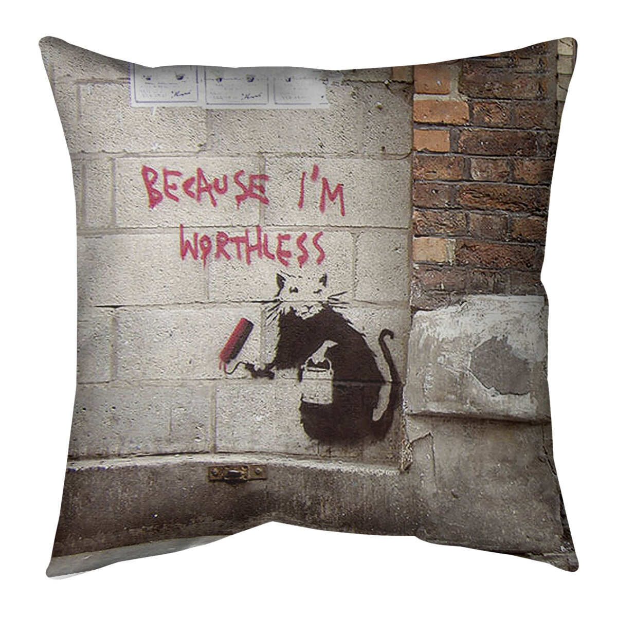 East Urban Home Because I M Worthless Indoor Outdoor Geometric Throw Pillow Wayfair