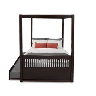 Oakwood Drive Full Canopy Bed with Trundle by Harriet Bee